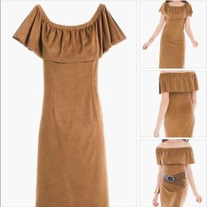 CHICO'S SUEDE DRESS
